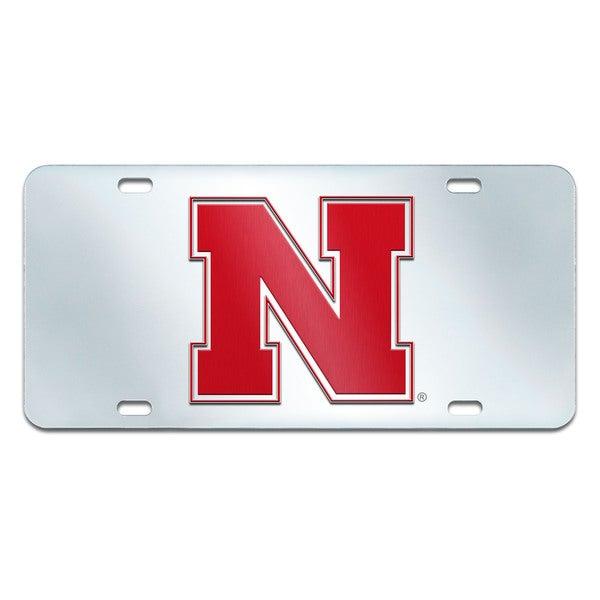 Fanmats Nebraska Cornhuskers Collegiate Acrylic License Plate Inlaid