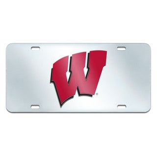 Fanmats Wisconsin Badgers Collegiate Acrylic License Plate Inlaid