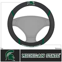 Fanmats Michigan State Spartans Black Fabric Steering Wheel Cover