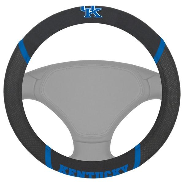 Fanmats Kentucky Wildcats Black Fabric Steering Wheel Cover