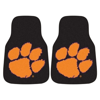 Fanmats Clemson Tigers 2-piece Black Carpeted Car Mat Set