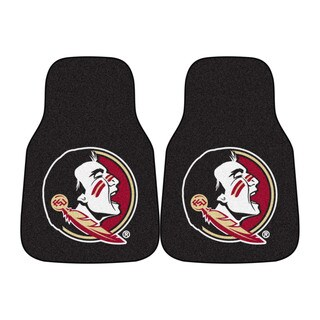Fanmats Florida State Seminoles 2-piece Black Carpeted Car Mat Set