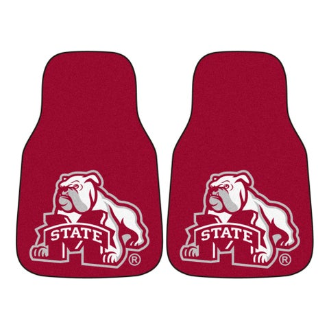 Fanmats Mississippi State Bulldogs 2-piece Red Carpeted Car Mat Set