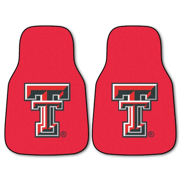 Fanmats Texas Tech Raiders 2-piece RedCarpeted Car Mat Set