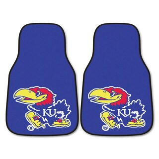 Fanmats Kansas Jayhawks 2-piece Blue Carpeted Car Mat Set