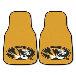 Fanmats Missouri Tigers 2-piece Gold Carpeted Car Mat Set