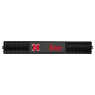 Fanmats University of Nebraska Charcoal Rubberized Drink Mat