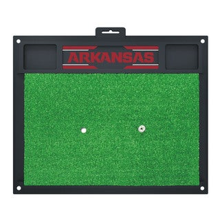 Fanmats Arkansas Razorbacks Green Rubber Golf Hitting Mat