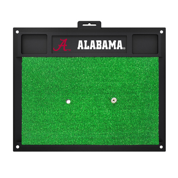 Fanmats Alabama Crimson Tide Green Rubber Golf Hitting Mat