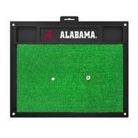 Fanmats Alabama Crimson Tide Green Rubber Golf Hitting Mat