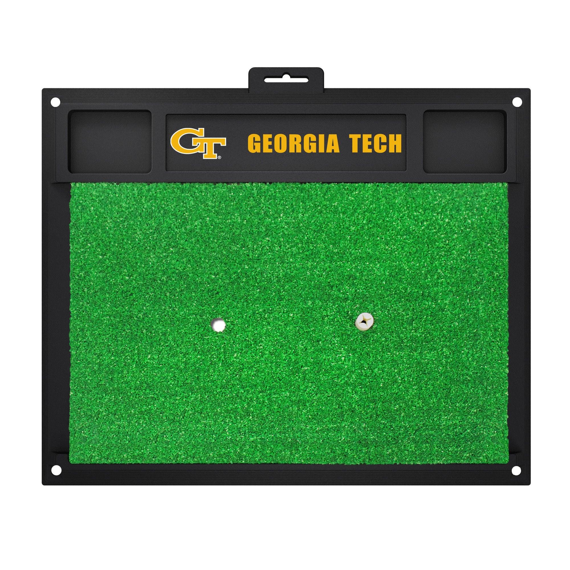 Fan Mats Georgia Tech Yellow Jackets Green Rubber Golf Hi...