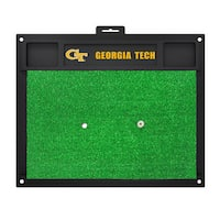 Fanmats Georgia Tech Yellow Jackets Green Rubber Golf Hitting Mat