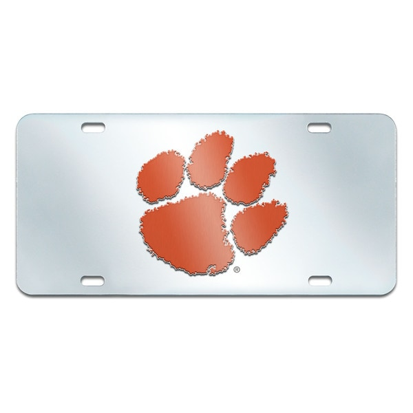 Fanmats Clemson Tigers Collegiate Acrylic License Plate Inlaid