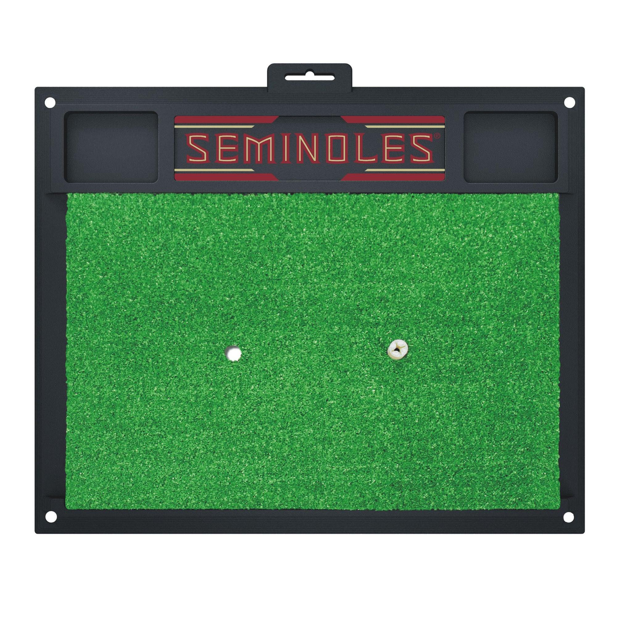 Fan Mats Florida State Seminoles Green Rubber Golf Hittin...