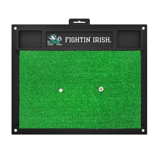 Fanmats Notre Dame Fighting Irish Green Rubber Golf Hitting Mat