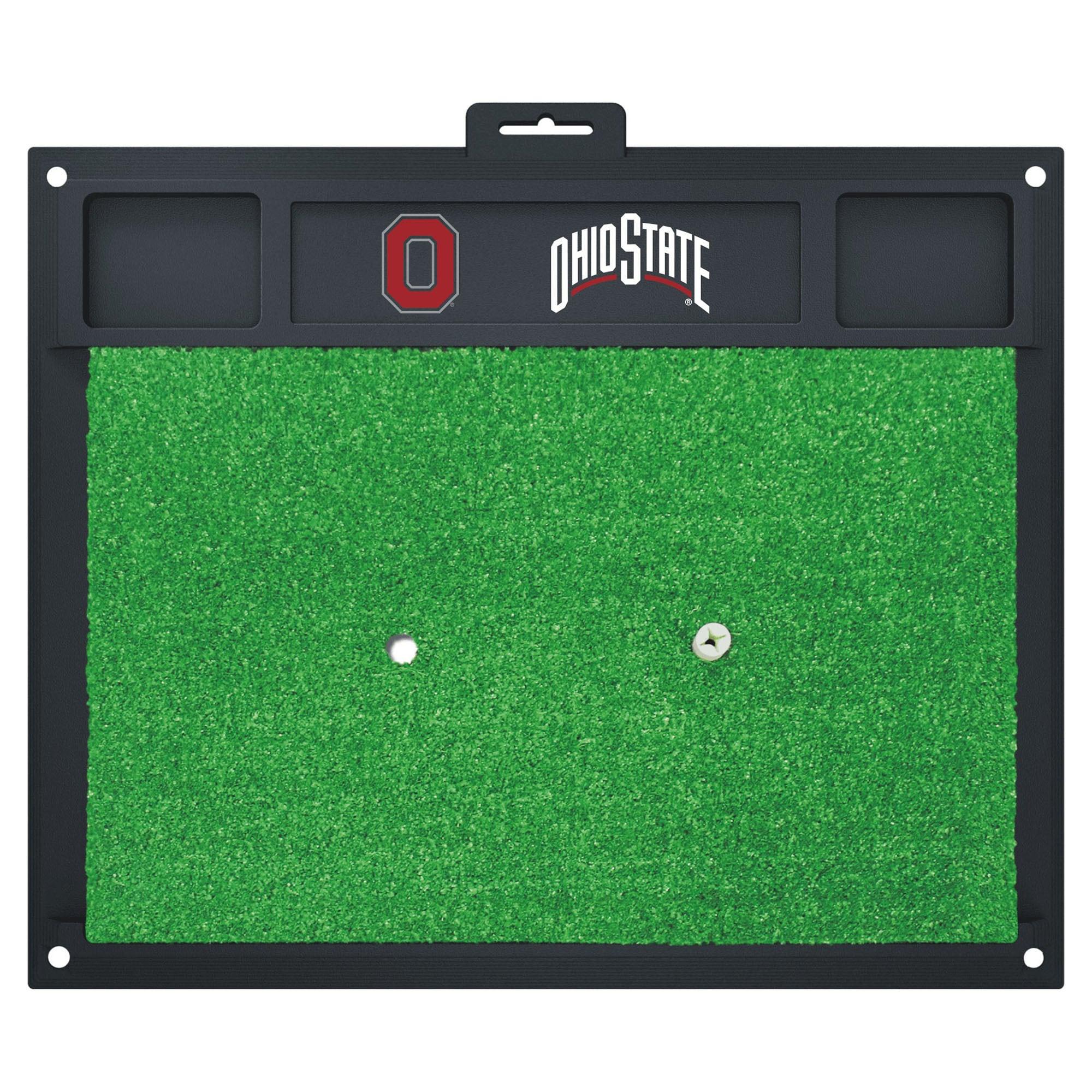 Fan Mats Ohio State Buckeyes Green Rubber Golf Hitting Ma...