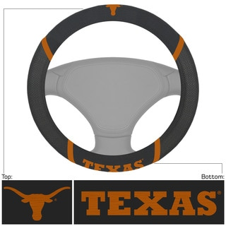 Fanmats Texas Longhorns Black Fabric Steering Wheel Cover
