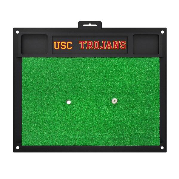 Fanmats USC Trojans Green Rubber Golf Hitting Mat