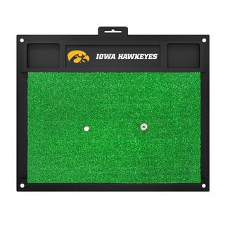 Fanmats Iowa Hawkeyes Green Rubber Golf Hitting Mat