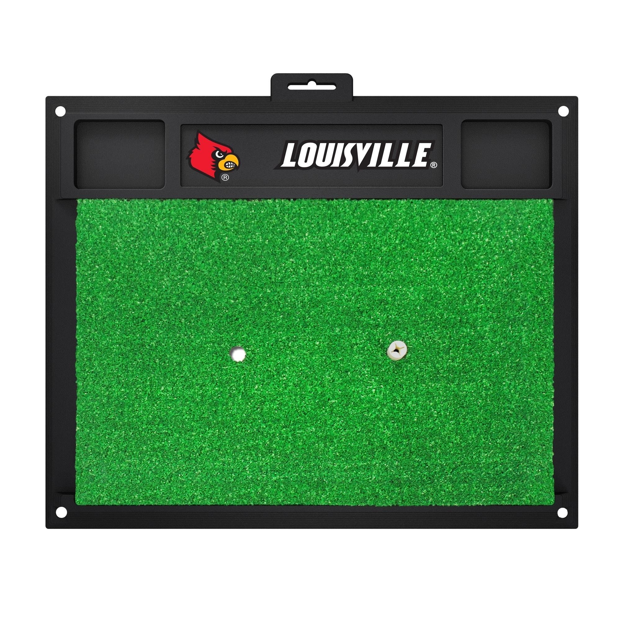 Fan Mats Louisville Cardinals Green Rubber Golf Hitting M...