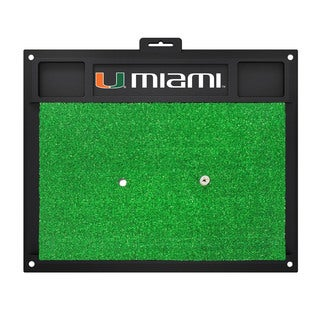 Fanmats Miami Hurricanes Green Rubber Golf Hitting Mat