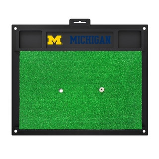 Fanmats Michigan Wolverines Green Rubber Golf Hitting Mat