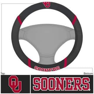 Fanmats Oklahoma Sooners Black Fabric Steering Wheel Cover|https://ak1.ostkcdn.com/images/products/10527012/P17609690.jpg?impolicy=medium