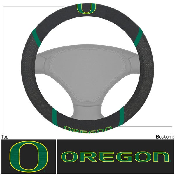 Fanmats Oregon Ducks Black Fabric Steering Wheel Cover
