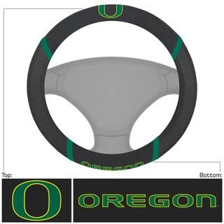 Fanmats Oregon Ducks Black Fabric Steering Wheel Cover