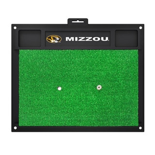 Fanmats Missouri Tigers Green Rubber Golf Hitting Mat
