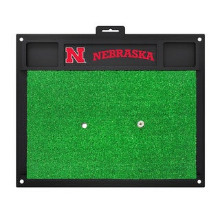 Fanmats Nebraska Cornhuskers Green Rubber Golf Hitting Mat