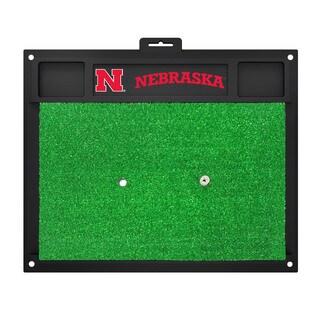 Fanmats Nebraska Cornhuskers Green Rubber Golf Hitting Mat