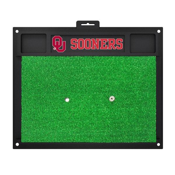 Fanmats Oklahoma Sooners Green Rubber Golf Hitting Mat