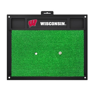Fanmats Wisconsin Badgers Green Rubber Golf Hitting Mat