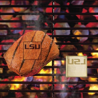 Fanmats LSU Tigers Silver Metal Fan Brand