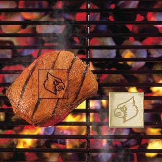 Fanmats Louisville Cardinals Silver Metal Fan Brand