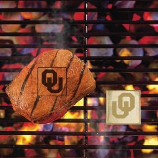 Fanmats Oklahoma SoonersSilver Metal Fan Brand
