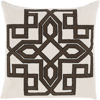 Decorative 20-inch Poly or Down Filled Garcia Geometric Throw Pillow