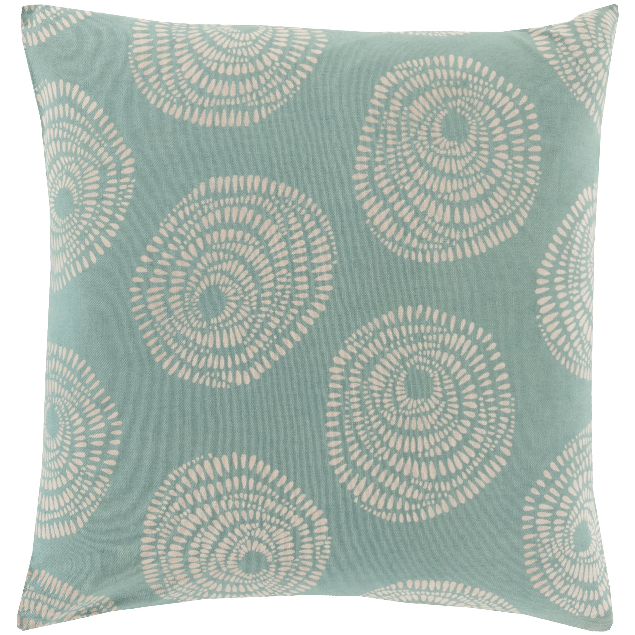 Decorative Cailyn Circles and Dots 22-inch Throw Pillow (Down)