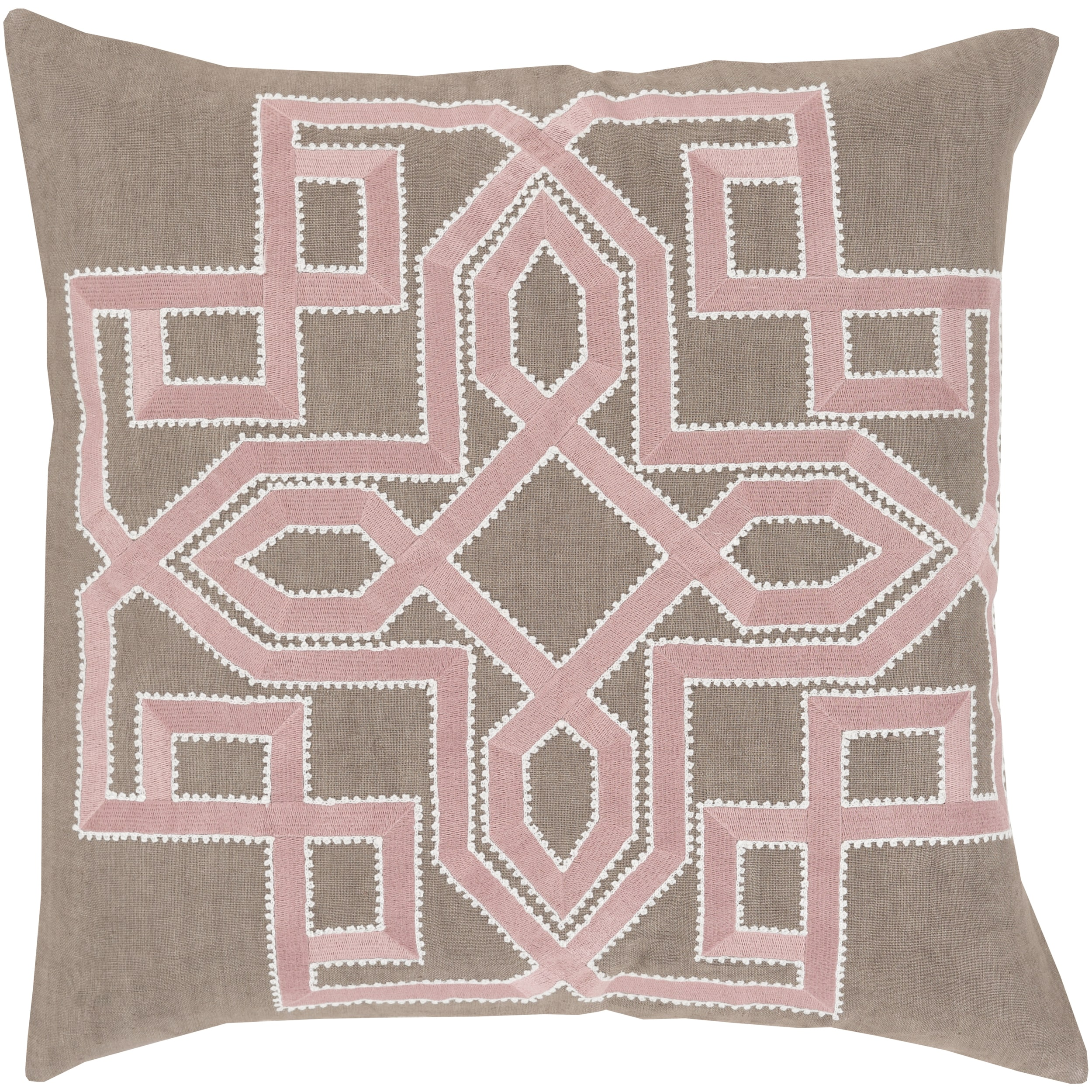 Decorative 20-inch Poly or Feather Down Filled Garcia Geometric Throw Pillow (Polyester)