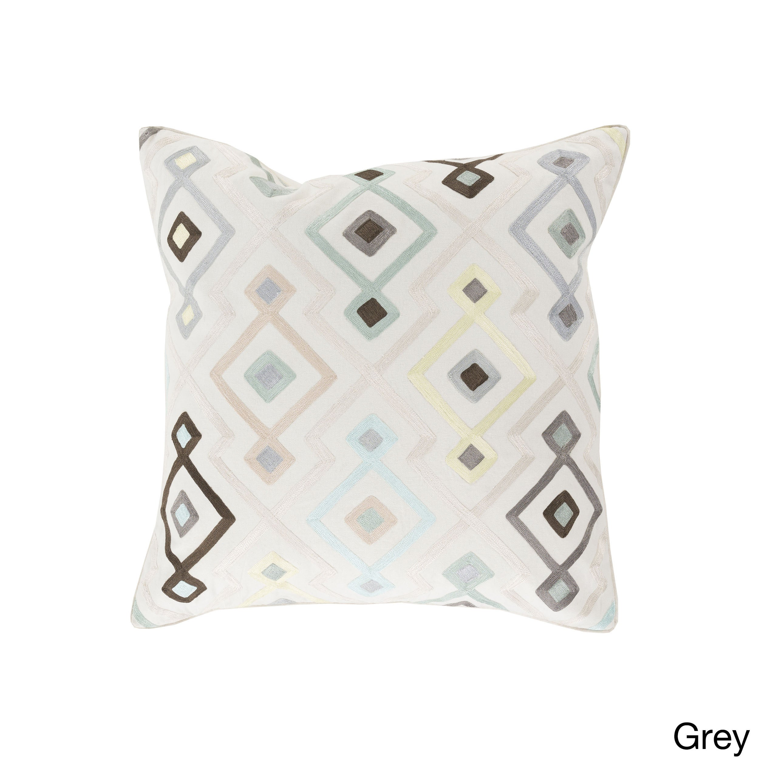 Decorative Cayden Woven Geo 20-inch Throw Pillow (Polyester)