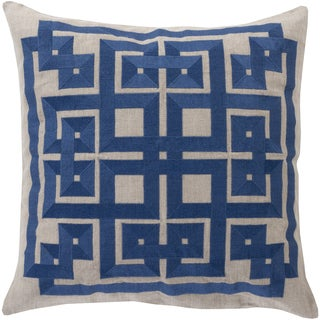 Decorative Felipe Geometric Feather and Down or Polyester Filled 20-inch Throw Pillow