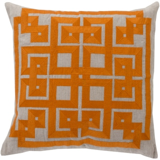 Decorative Felipe Geometric Feather Down or Polyester Filled 20-inch Throw Pillow
