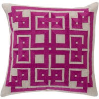 Beth Lacefield Decorative Felipe Geometric Feather Down or Poly Filled 20-inch Throw Pillow