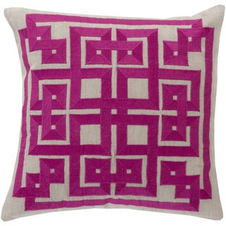 Beth Lacefield Decorative Felipe Geometric Feather and Down or Polyester Filled 20-inch Throw Pillow
