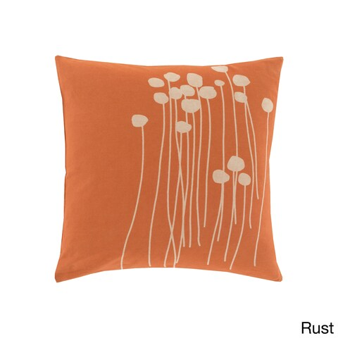 The Gray Barn Windy Oaks 18-inch Orange Floral Throw Pillow