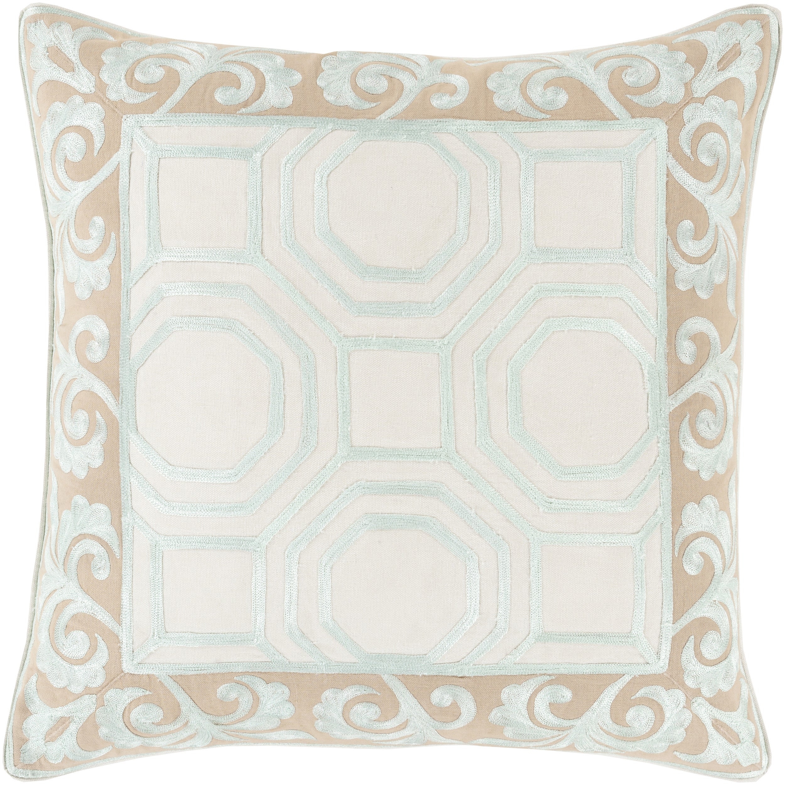 Kirsten Geometric Feather Down Filled or Poly Filled 18-inch Throw Pillow (Polyester)