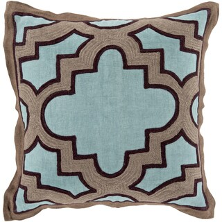 Decorative Bilston Medallion Feather and Down or Polyester Filled 18-inch Throw Pillow