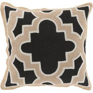 Decorative Bilston Medallion Feather Down or Polyester Filled 18-inch Throw Pillow
