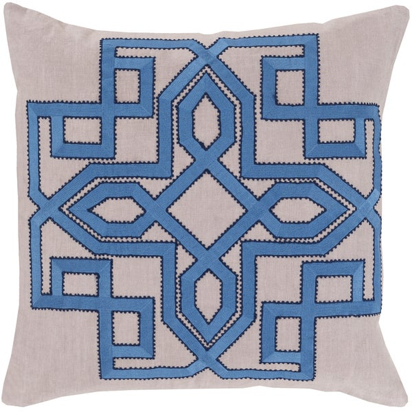 Decorative Garcia Geometric 18-inch Poly or Feather Down Filled Throw Pillow